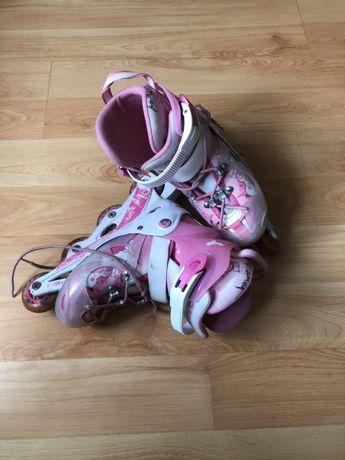Łyżworolki rolki dla dziewczynki roz 30 - 33