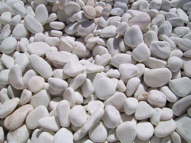 Pedra Decorativa Branca para jardim Seixo, Godo, Rolada 209€/T