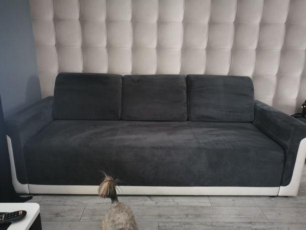 Sprzedam łóżko grafit z biala Eco skóra dl  222cm