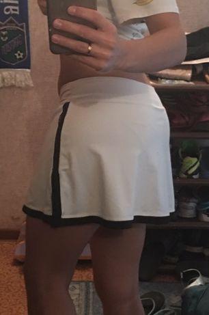 Юбка шорты спортивная Nike белая