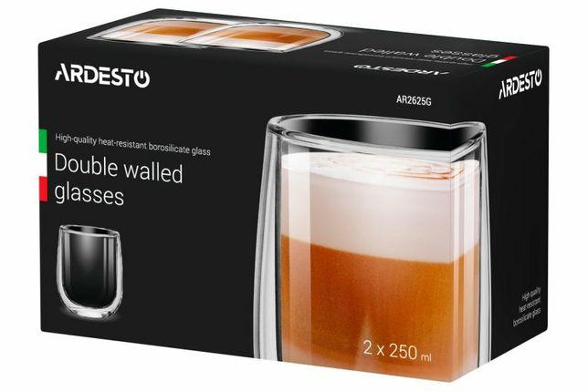 Набір чашок з подвійними стінками Ardesto 250 мл 2 шт