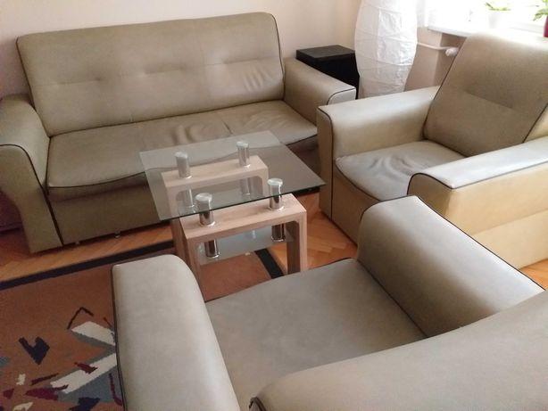 Sprzedam kanapę z 2 fotelami z ekoskóry