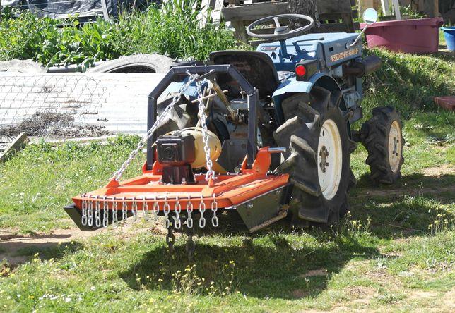 Tractor Japonês mitsubishi tração 4 rodas 4x4 com alfaias