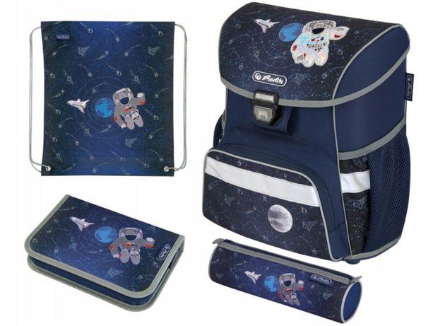 Plecak Herlitz - zestaw + dwa piórniki, worek na strój i wyprawka nowy
