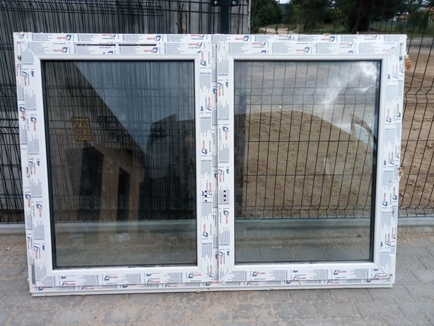 Okno dwuskrzydłowe 178 x 120.