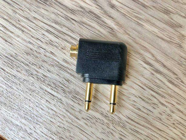 Адаптер для навушників 3,5-міv роз'єм для літаків, перетворювач аудіо