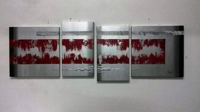Conjunto de 4 Quadros Abstracto
