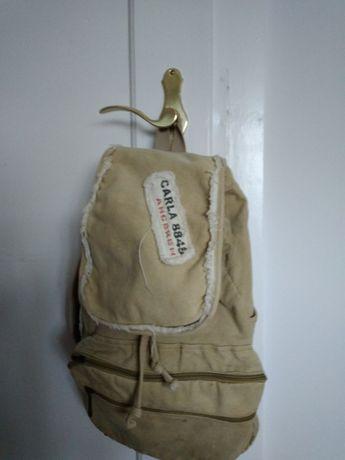 plecak materiałowy khaki