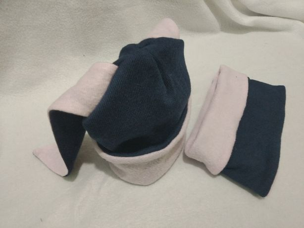 Продам теплий, м'який комплект шапка та хомут