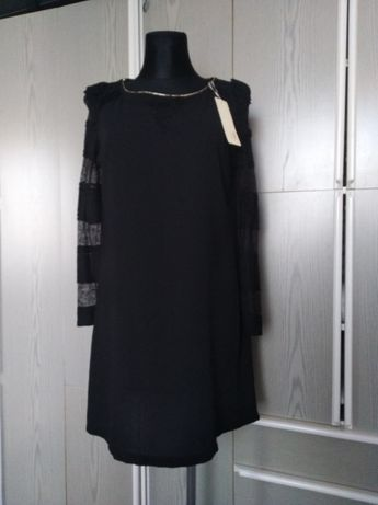 Sukienka czarna, nowa, rozm 42 (T3)