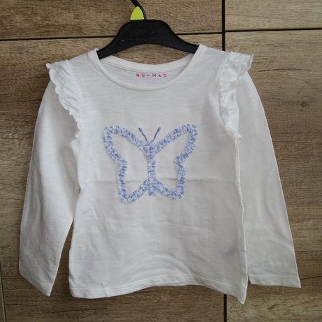 Bluzka 110 dziewczęca bluzeczka biała