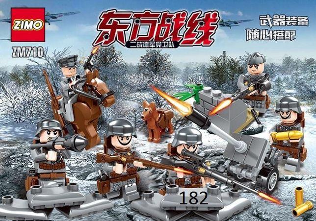 #182 Фигурки немецких военных сс вермахт военные солдаты лего lego