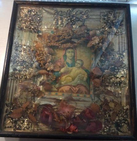 Старинная икона Девы Марии