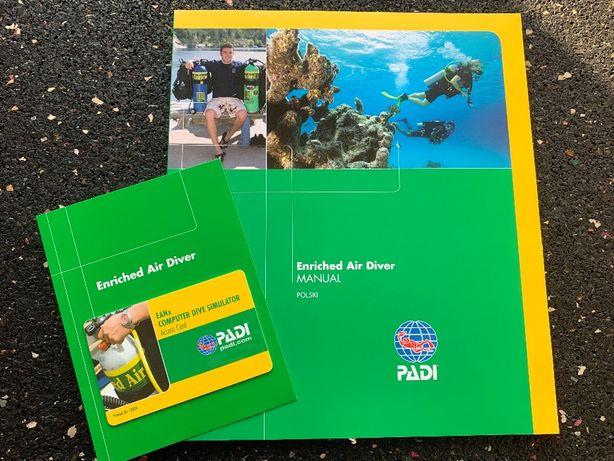 Nurkowa Książka / Podręcznik – Nitrox nauka nurkowania PADI