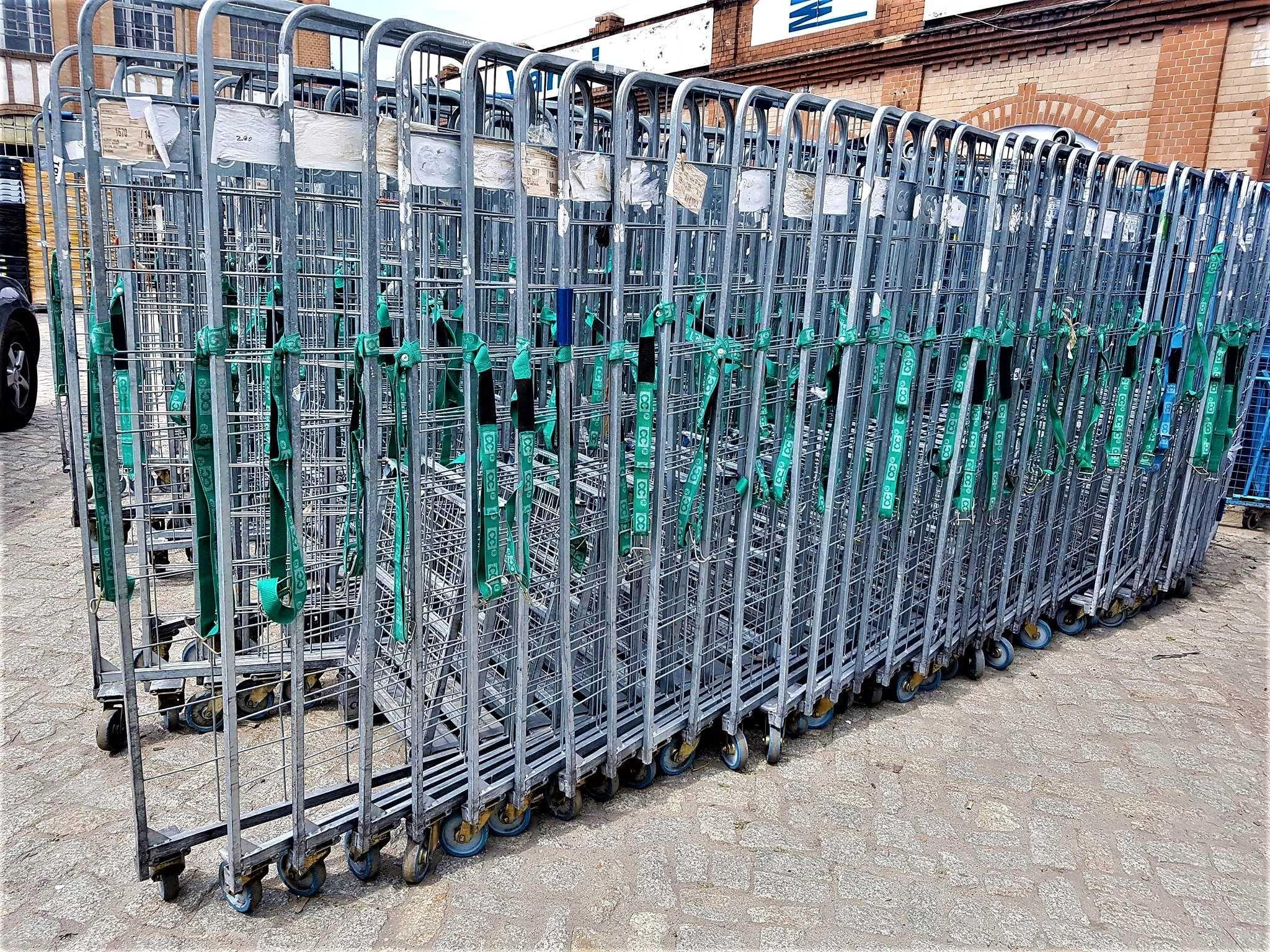 Wózek Transportowy Gniazdowy Siatkowy Platforma 80x67x190cm