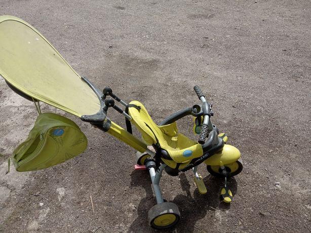 Rower trzykołowy zielony,jezdzik