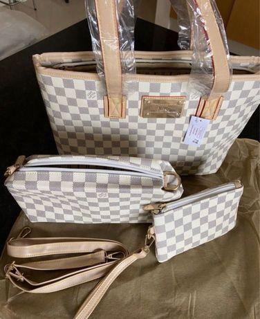 Mala Conjunto 3 Louis Vuitton em Couro Novas