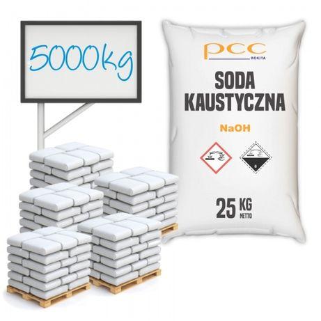 Soda Kaustyczna, Wodorotlenek Sodu 500 kg- płatki - wysyłka