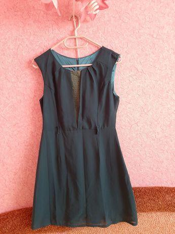 Платье шивоновое летнее цвет морской волны