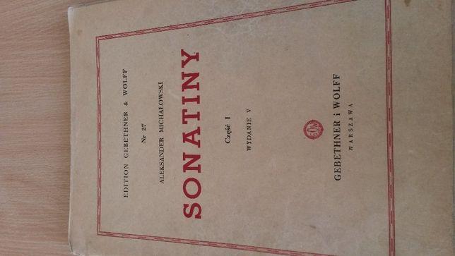 Nuty na fortepian - Michałowski - Sonatiny 1 /Gebethner i Wolf 1946
