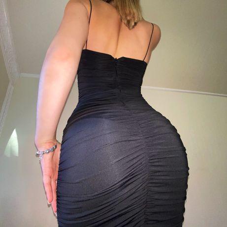 Чёрное платье миди Oh,Polly