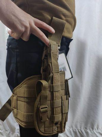 Кобура для пистолета набедренная с платформой и подсумком из Германии