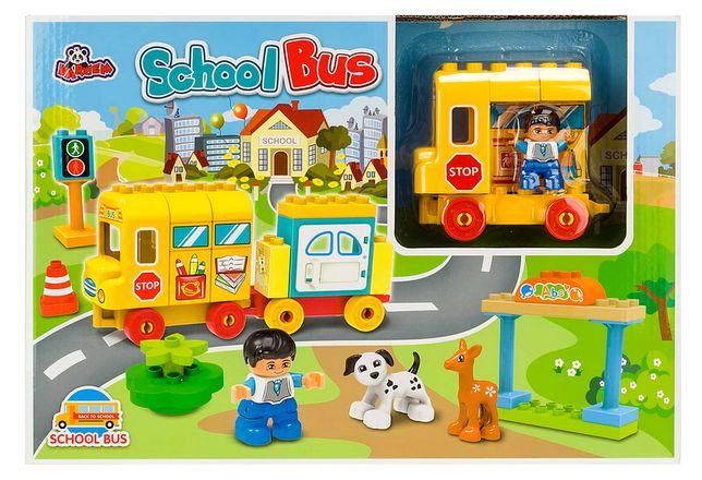 Klocki Zestaw Autobus Szkolny 39El. 3 Figurki