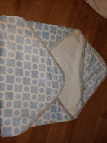Ręcznik okrycie kąpielowe błękit z białym