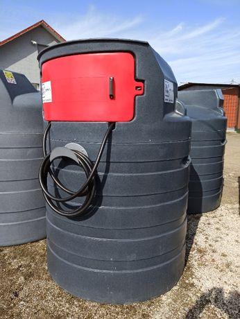 Dwupłaszczowy zbiornik 1500l na paliwo ropę ON olej napędowy