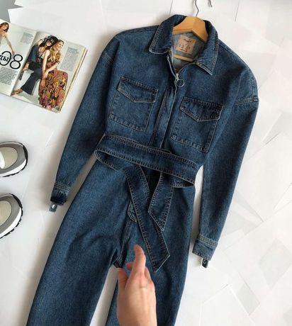 Крутой джинсовый комбинезон мом Denim Co (XS-S)