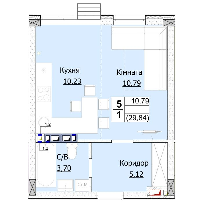 """Квартира в новій черзі від забудовника ГК """"Доброград"""" Гостомель - изображение 1"""