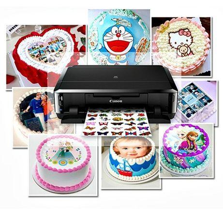 Вафельные картинки на торт. Съедобная печать.