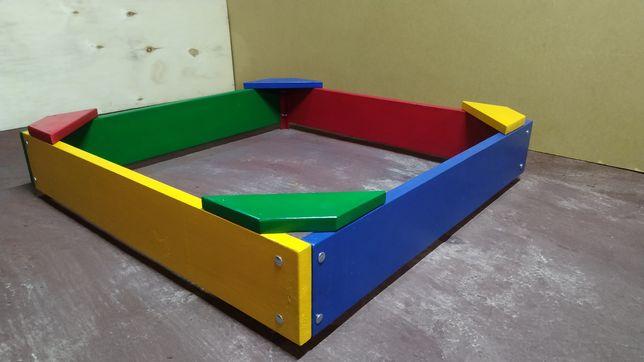 В наявності. Пісочниця 1 м, песочница с сидушками, детские площадки.