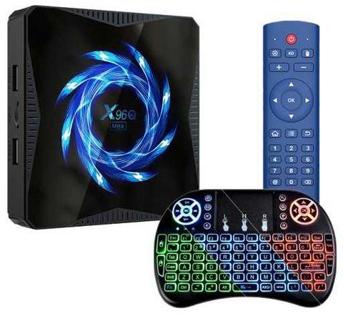 Smart TV box X96q max 4/32 z Android 10 + klawiatura
