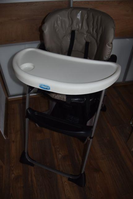 Krzesełko do karmienia Chicco szaro-czarne