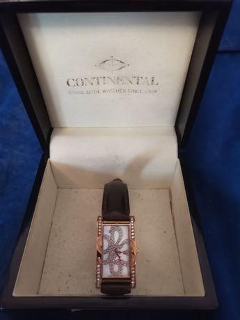 Часы женские, Continental, позолоченные, Швейцария