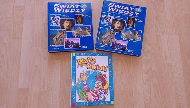 """Segregatory z gazetkami """"Świat Wiedzy"""" i """"Wally zwiedza świat"""""""