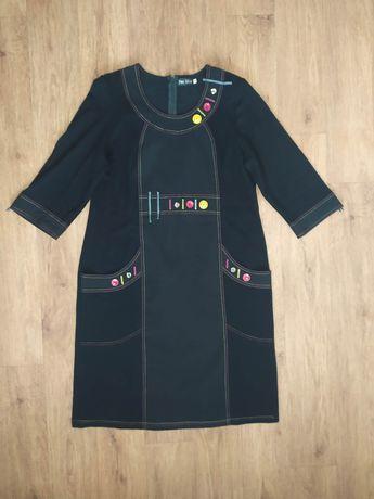 Платье украшенное пуговицами PER MIO р,54