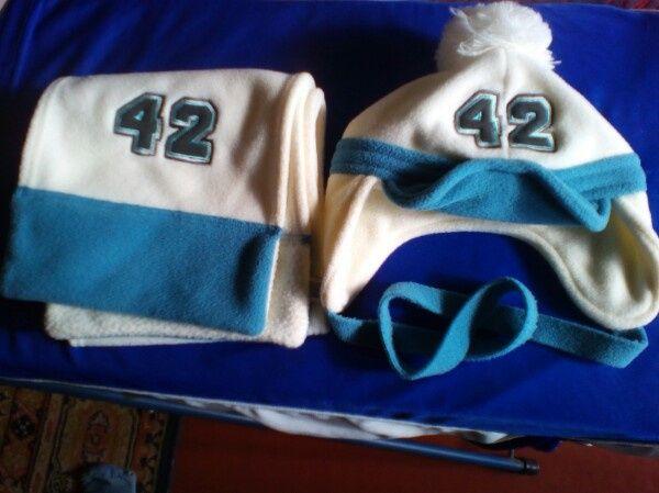 Комплект для малыша шапка и шарф, тёплый (цена снижена).