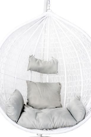 Fotel Wiszący Kosz Wiszący Huśtawka Kokon Biały Nowy Tani