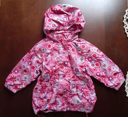 Piękna kurtka z kwiatuszkami - rozmiar 86