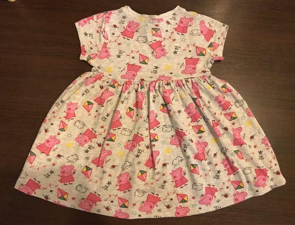 Платье Свинка Пеппа Carter's H&M размер 1-2 года, хлопок