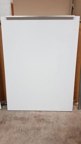 Fronty Ikea biały połysk, drewniane, szuflady, kosze.