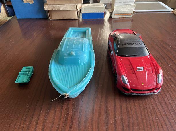 Игрушки ссср кораблик, лодочка командирская и машинка