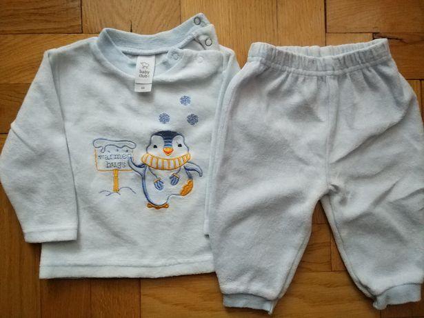 Komplet spodnie i sweterek, C&A, pingwin zima rozmiar 68 cm