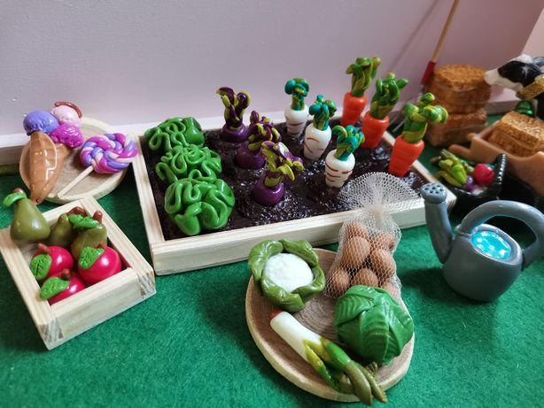Ogródek, farma, gospodarstwo makieta, Schleich, Collecta, Barbie