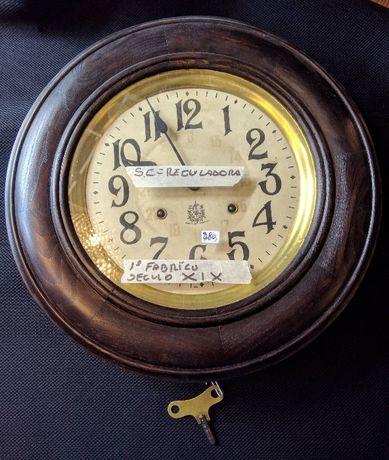 Relógio Parede São Paulo Carvalho Reguladora