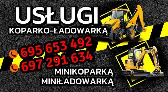 Usługi Minikoparką Koparko-ładowarką Miniładowarką Transport do 3,5t