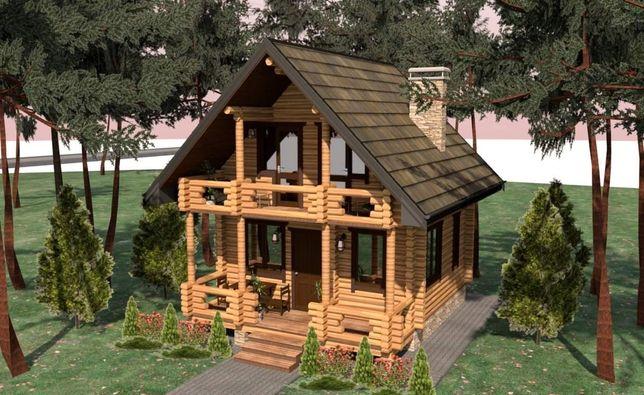 Дом из Дикого Сруба 9900$