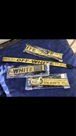 Trela para cao off white